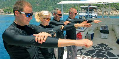 Open Water Instructor Dive professional courses on Koh Tao Thailand